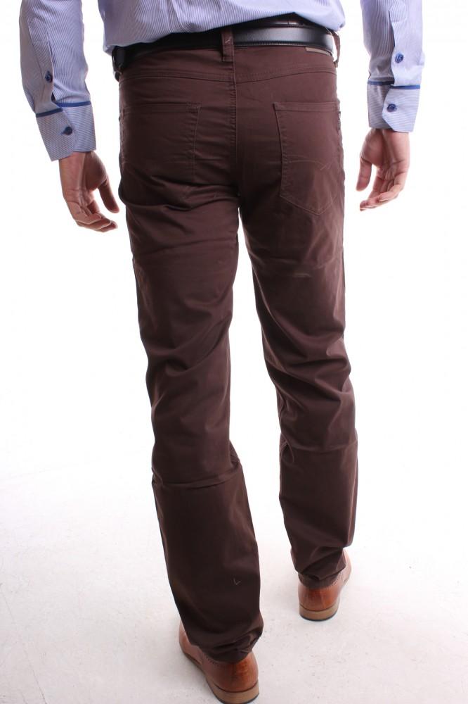 Pánske elastické športové nohavice MID-POINT (K2971-24) - hnedé ... a9e83fc48da