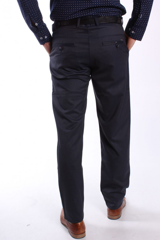 b388c8f7aeb2 Pánske elastické športovo-elegantné nohavice DIVIDERS MODEL 2194 - modro- čierne  1