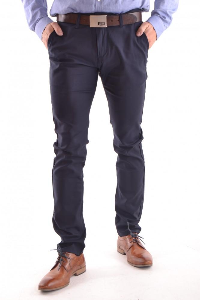 7c785e695a Pánske elastické športovo-elegantné nohavice M.SARA (KA-137-68) - tmavomodré