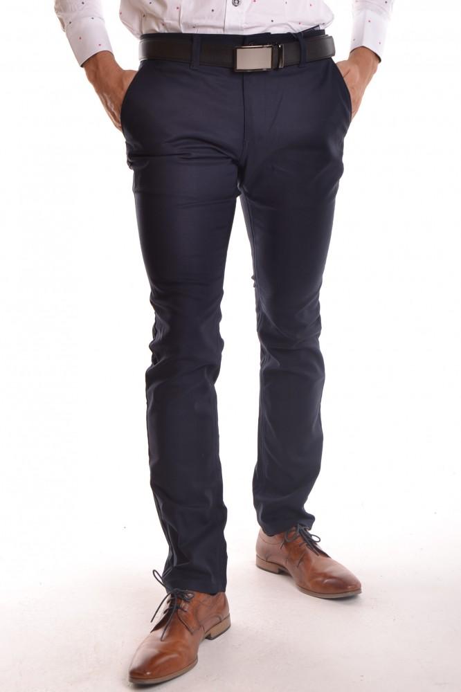 2c6c82e9ff Pánske elastické športovo-elegantné nohavice MID-POINT KA 9589-68 -  tmavomodré