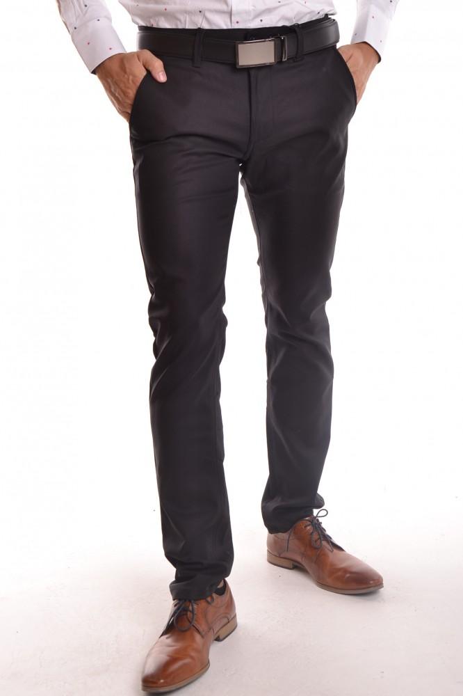f680f11fd9a3 Pánske elastické športovo-elegantné nohavice MID.POINT KA9589-13 - čierne