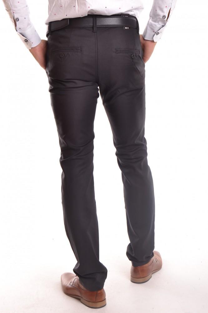 58ae030f2f88 Pánske elastické športovo-elegantné nohavice MID.POINT KA9589-13 - čierne  1