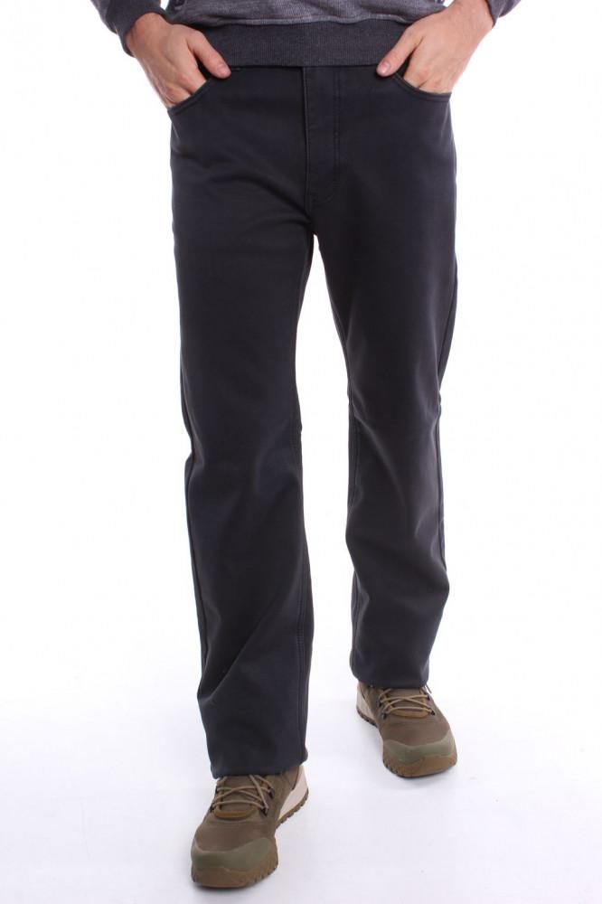 5e2ec1761b18 Pánske elastické zateplené športové nohavice DOCKHOUSE (D10144-7 2) - sivé