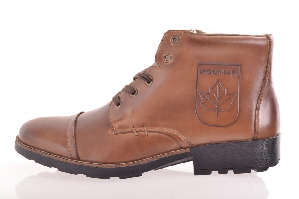 dfb177566bf3 Pánske kožené zateplené topánky RIEKER (36010-27) - hnedé - Pánska ...