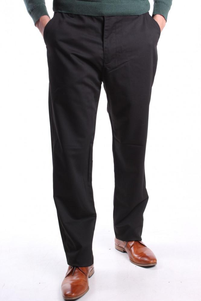 Pánske nadmerne športovo-elegantné nohavice (63) NEW JARSIN - čierne