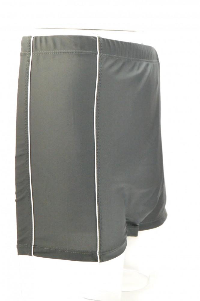 Pánske plavky - boxerky - sivé s bielymi pásmi - Pánske plavky ... 97c35947e67