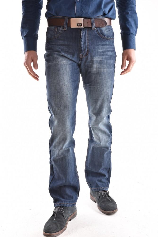 c5ff67f7afe8 Pánske rifľové zateplené nohavice (D6015-1) - modré (DOCKHOUSE ...