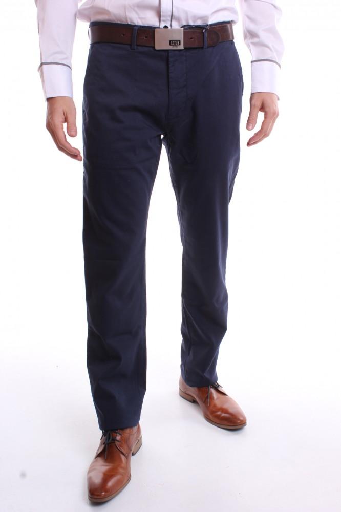4028b066f28a Pánske športovo-elegantné nohavice (SLIM FIT) - VZOR 366 - modré ...