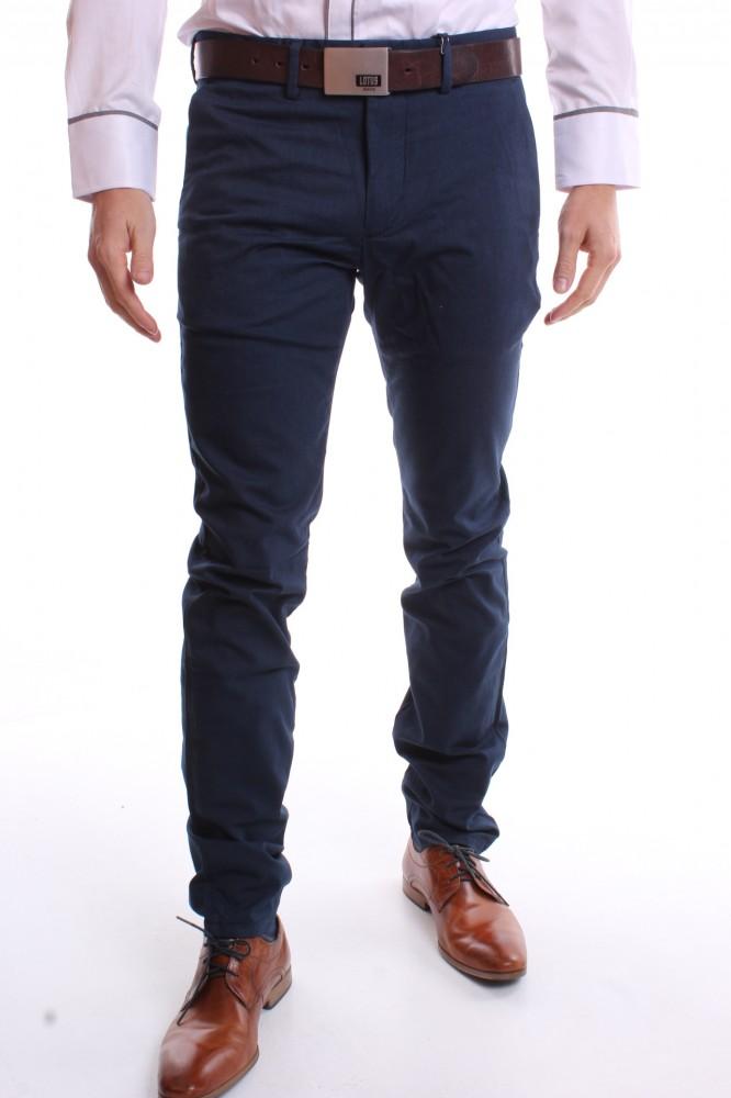 Pánske športovo-elegantné nohavice (SLIM FIT) - VZOR 373 - modré 1 ... 594490c2973