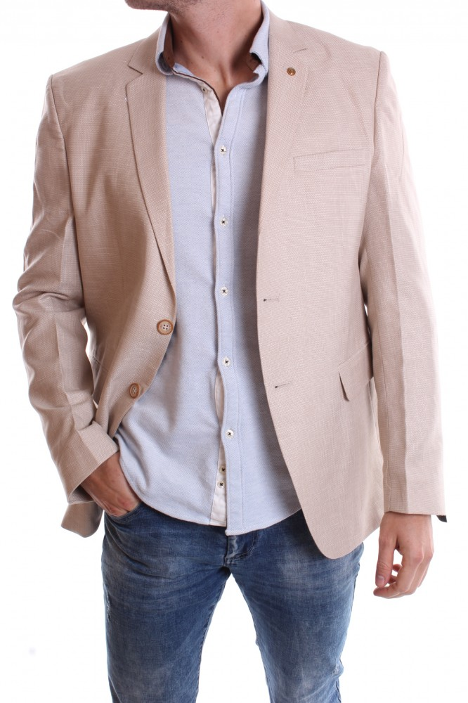 Pánske športovo-elegantné sako melírované VZOR 3345 - béžové ... 8c80ac8c9db