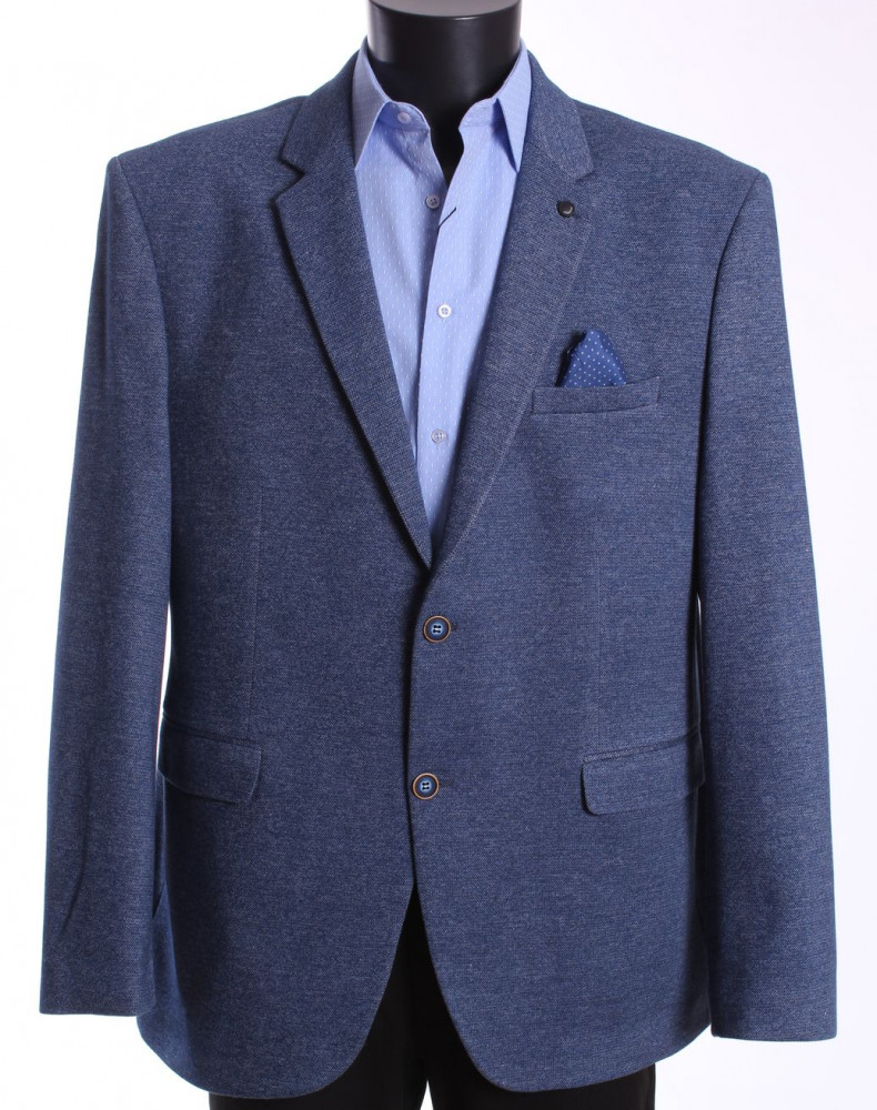 Pánske športovo-elegantné sako nadmerné MODEL 3551 - rifľovomodré