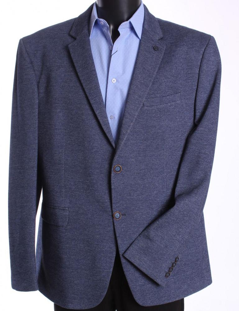 Pánske športovo-elegantné sako nadmerné MODEL 3551 - sivomodré