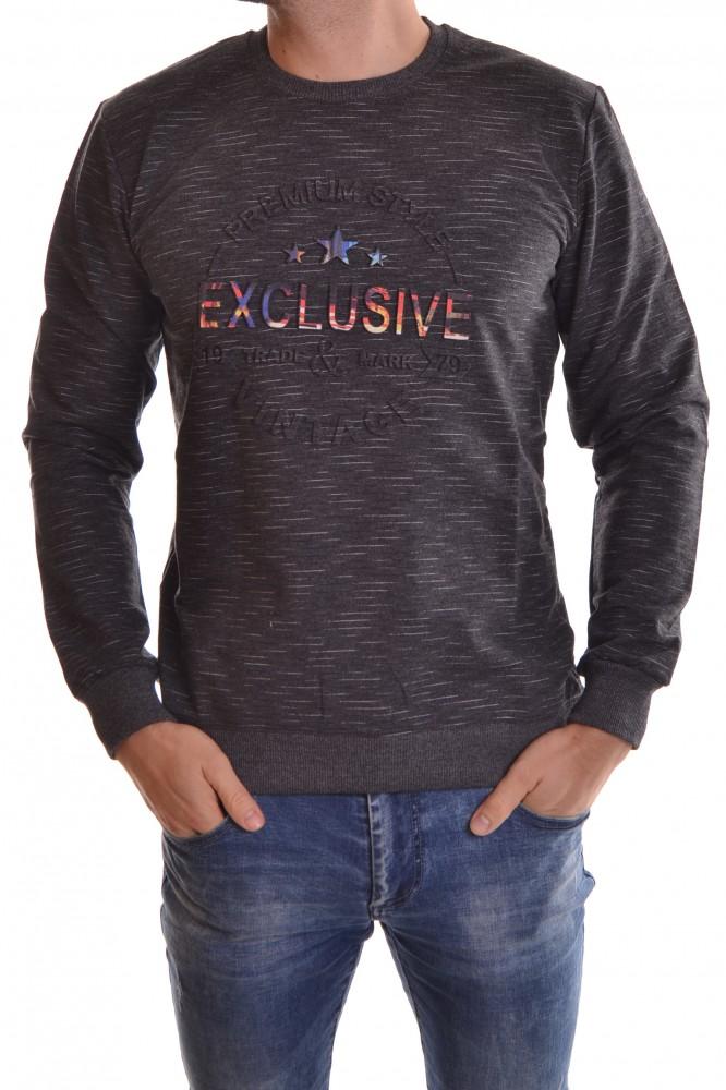 f43583eb58 Pánske tričko EXCLUSIVE - tmavosivé - Pánske tričká s dlhým rukávom ...