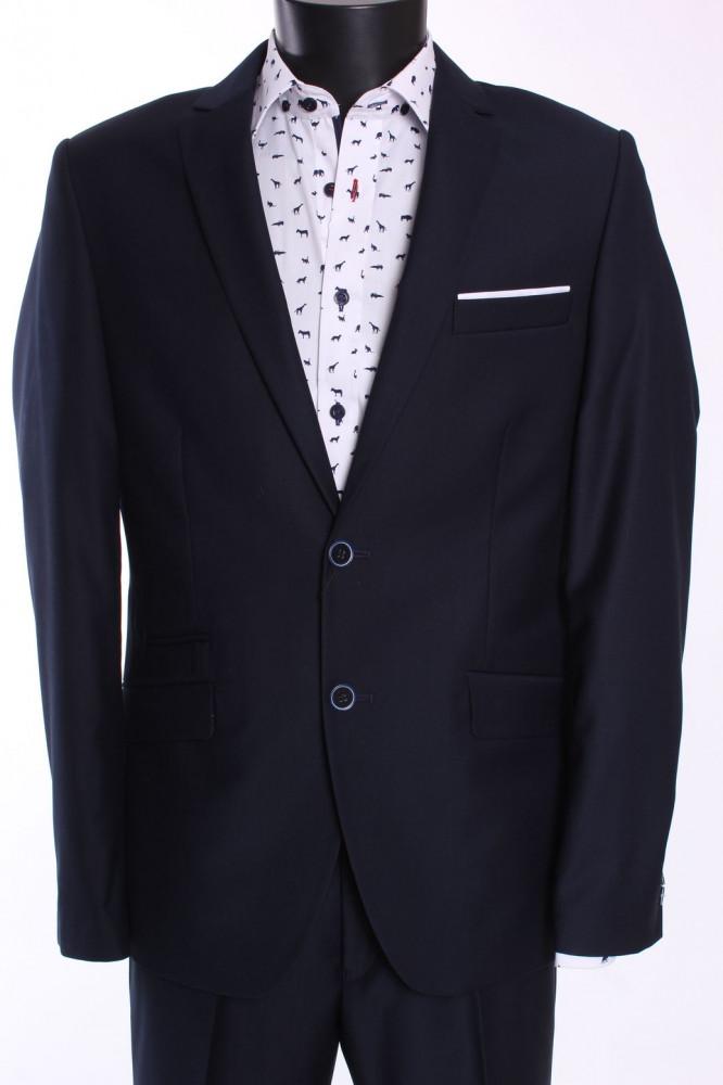 Pánsky oblek BRUNO SLIM FIT (v. 182 cm) - tmavomodrý