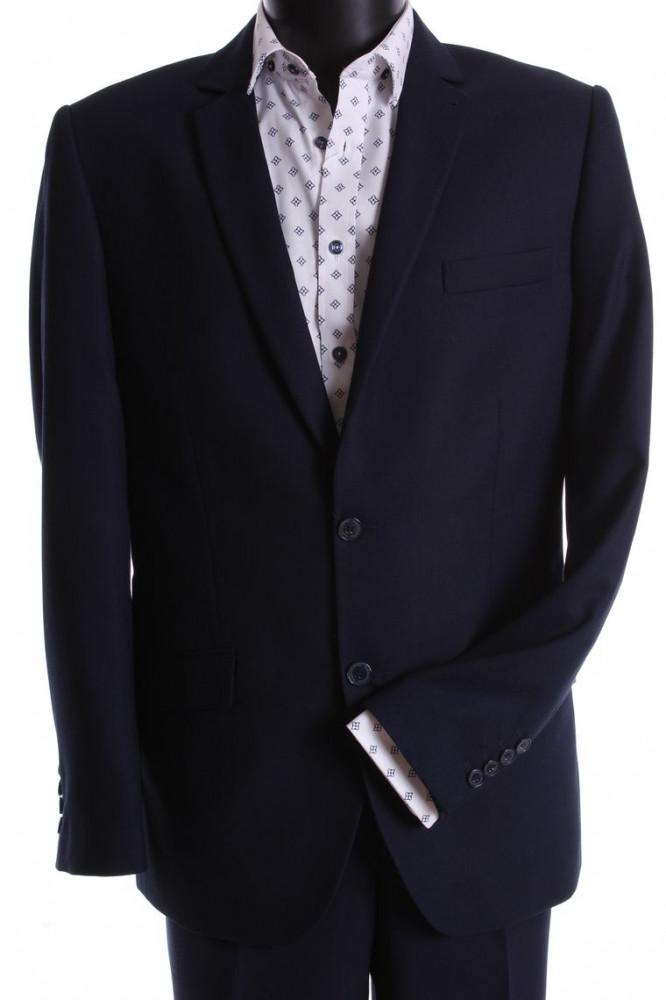 Pánsky oblek CARLO KLASIK s dvoma rozparkami (v. 176 cm) - tmavomodrý