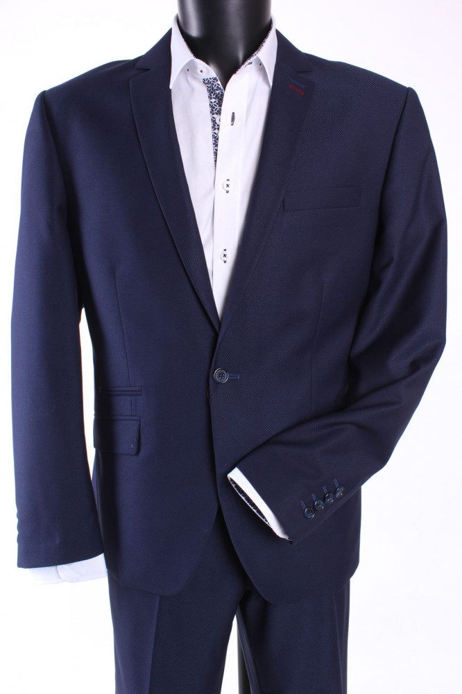 Pánsky oblek DARIO (v. 176 cm) - tmavomodrý