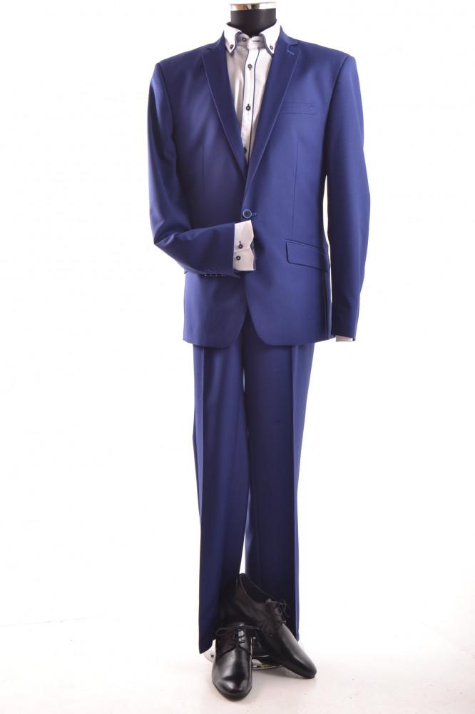 a67283fded Pánsky oblek - kráľovsko-modrej farby (v. 182 cm) - Pánske obleky ...