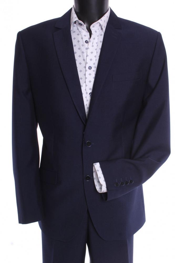 45061691cb Pánsky oblek LUCIANO - modrý (v. 182 cm) - Pánske obleky - Locca.sk