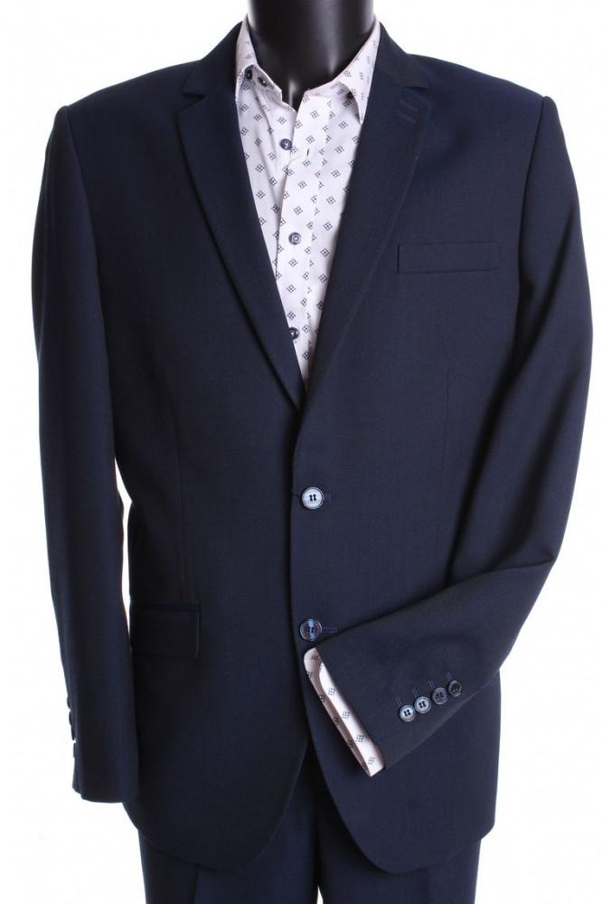 Pánsky oblek MATEO-KLASIK s dvoma rozparkami  (v. 182 cm) - modro-čierny