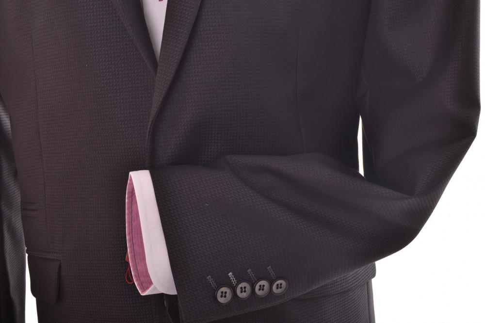b459ba947c Pánsky oblek so sivým zdobením (v. 176 cm) - tmavomodrý P10 - Pánske ...
