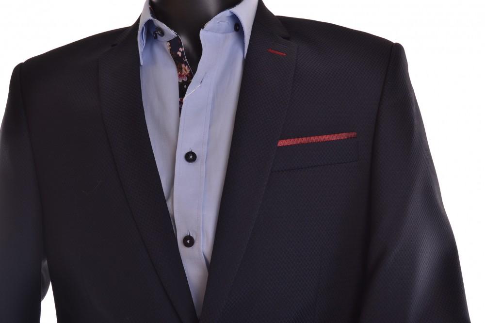 b8c563df1f Pánsky oblek - tmavomodrý s bordovým zdobením (v. 182 cm) P10 ...