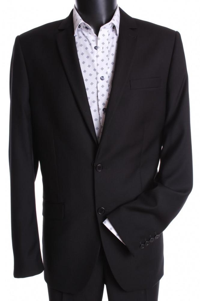 Pánsky oblek (v . 176 cm) - čierny 4.