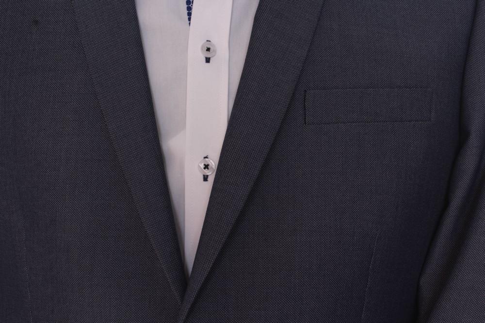 762141eeee Pánsky oblek (v. 176 cm) - sivo-modrý - Pánske obleky - Locca.sk