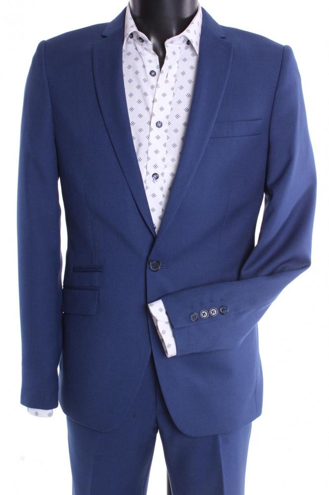 Pánsky oblek VIOLI SLIM FIT - kráľovský modrý (v. 188 cm)