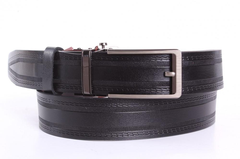 67cefa9a7 Pánsky opasok vzorovaný - čierny (š. 3,5 cm) - Pánske elegantné ...