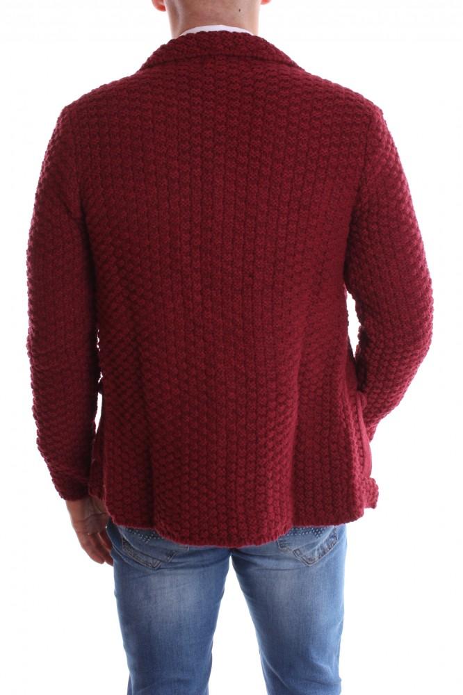 cb2b4573ccd6 Pánsky pletený sveter - bordový - Pánske svetre a pulóvre - Locca.sk