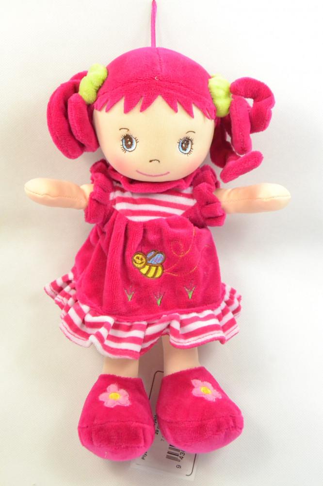 Plyšová bábika - cyklámenová (v. 29 cm)