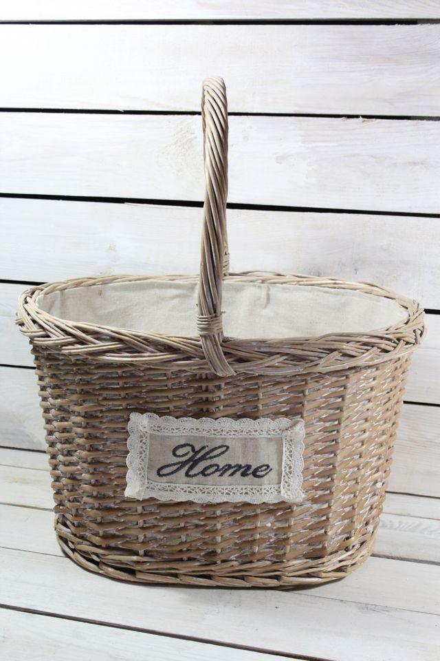 Prútený košík s úchytkou (38x24x31 cm) - hnedý