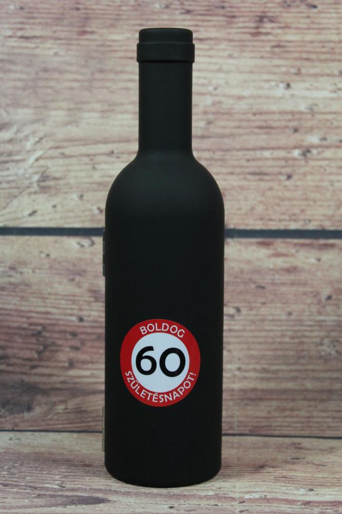 Sada na otváranie vína - FĽAŠA BOLDOG 60 SZÜLETÉSNAPOT (v. 23,5 cm)