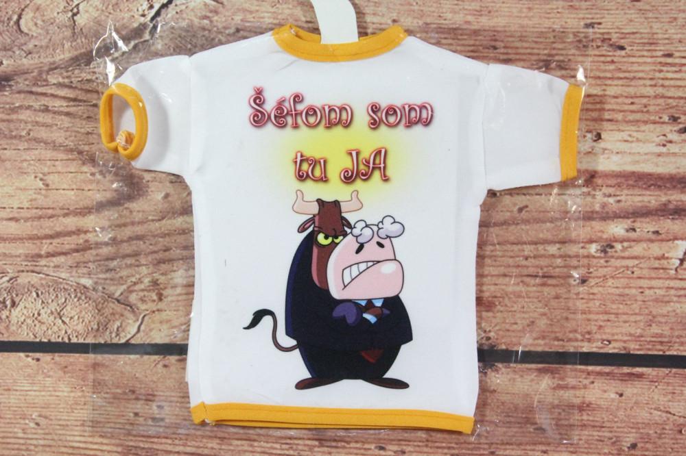 Tričko na fľašu ŠÉFOM SOM TU JA - žlté