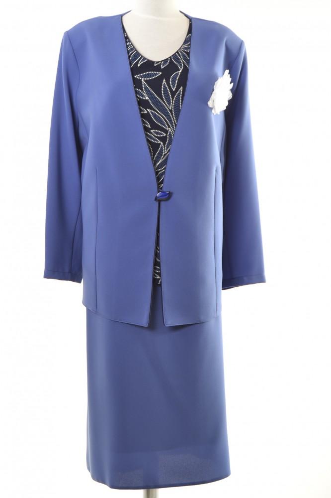 691146beb543 Trojdielny spoločenský kostým - modrý D3 - Kostýmy pre moletky ...