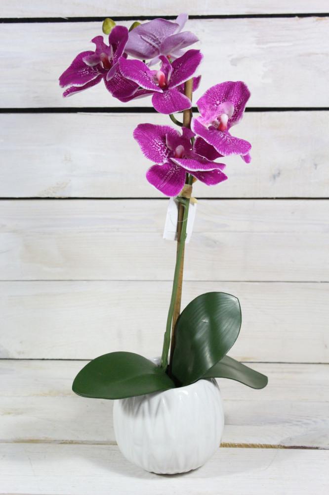 Umelá ORCHIDEA v črepníku - fialová (v. 40 cm)