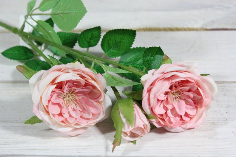 Umelé RUŽIČKY - ružové (v. 40 cm)