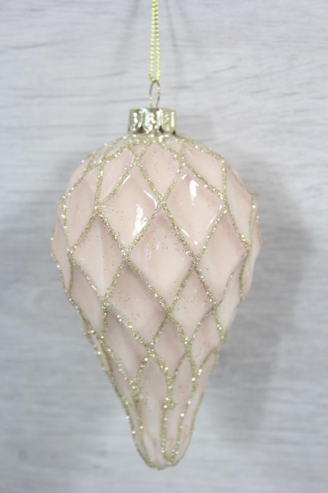 Vianočné gule  - zlato-ružové (p. 6,5 cm)