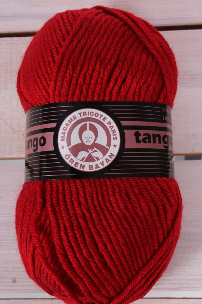 Vlna TANGO 033 - červená (100 g - 120 m)