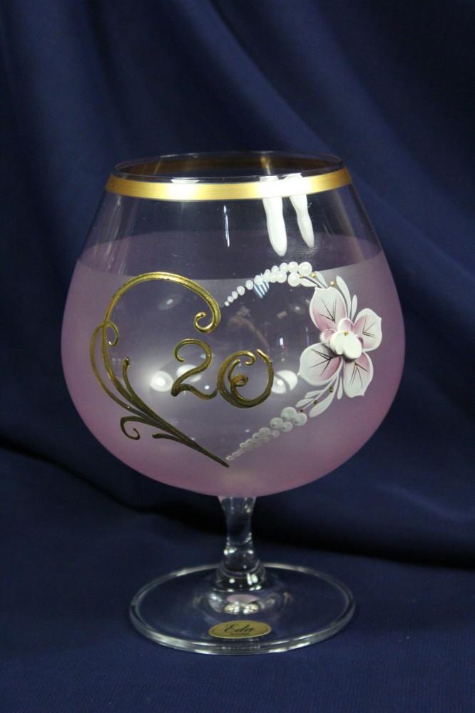 Výročný pohár na 20.narodeniny BRANDY - ružový (650 ml)