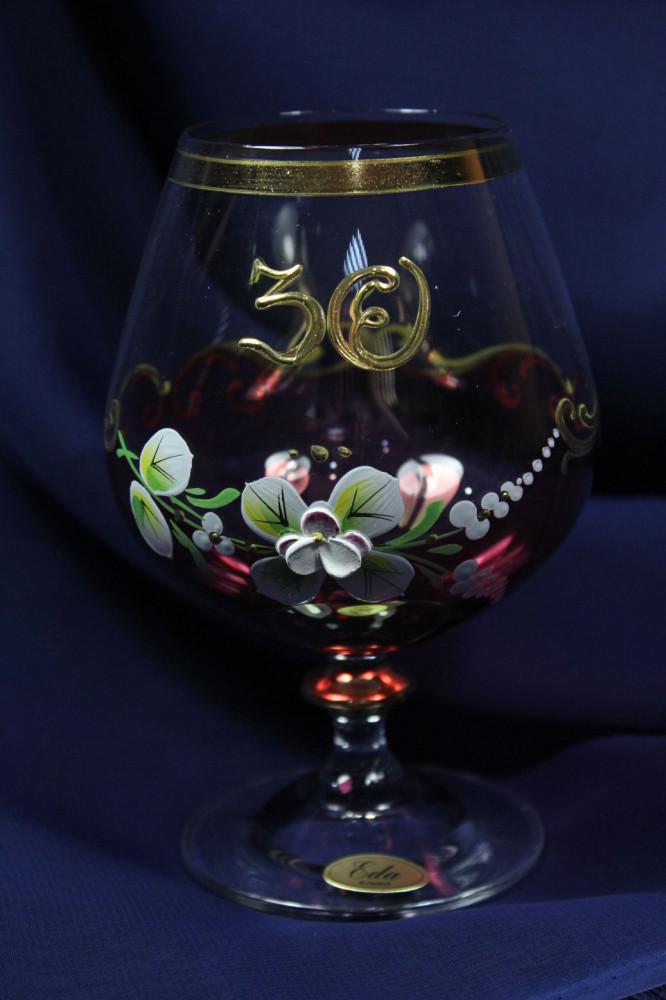 Výročný pohár na 30.narodeniny - BRANDY bordový 400 ml