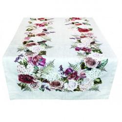 Behúň na stôl Ruže digitálna potlač 50x150 cm Made in Italy 50 x 150 cm Viacfarebná