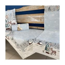 Gobelinový behúň na stôl 40x100 cm Chenille 1152 Viacfarebná 40 x 100 cm