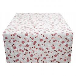 Behúň na stôl červené kvety Made in Italy, 50 x 150 cm