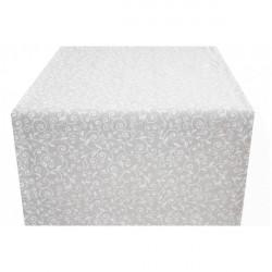 Behúň na stôl biele lístie Made in Italy, 50 x 150 cm