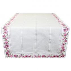 Behúň na stôl kvety Ružová 45 x 150 cm