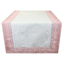 Behúň na stôl pudrovo ružový Pudrová ružová 45 x 150 cm
