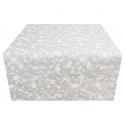 Behúň na stôl biele kvety Made in Italy, 50 x 150 cm