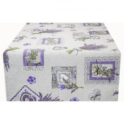 Behúň na stôl Levanduľové kytice Made in Italy, 50 x 150 cm