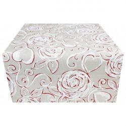 Behúň na stôl červené ruže Made in Italy, 50 x 150 cm